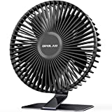 OPOLAR 2021 6 INCH USB Desk Fan with Upgraded Strong Airflow, 4 Speeds, Whisper Quiet Desktop Office Table Fan, 90° Adjustable Tilt Angle for Better Cooling,4.9 ft Cord, Black