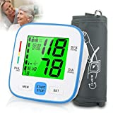 Topffy Blood Pressure Monitor,Digital BP Cuff Upper Arm Blood Pressure Monitor Backlit Large Cuff BP Machine Heart Monitor Automatic Blood Pressure Cuff for Home Use,2 * 90 Sets Memory