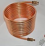 Spirale aus Kupferrohr 18x1mm 10m Außendurchm. ca.31cm Poolheizung ANSCHLUSS GARDENA