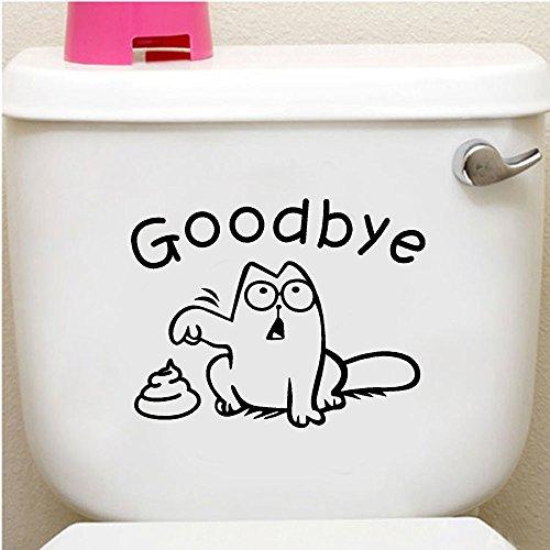 Wc Deckel Aufkleber Toilette Aufkleber Lustiger DIY Badezimmer Wandtattoo Sticker für Toilette Innenraum Deckel Wandsticker Bad WC Sitz Absenkautomatik Wandaufkleber