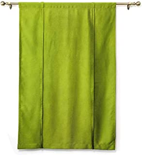 HCCJLCKS Bedroom Windproof Roman Blinds Lime Green Empty Backdrop Blurry Off Focus Pastel Toned Shade Color Spring Theme Abstract Darkening and Thermal Insulating Apple Green W32 xL72