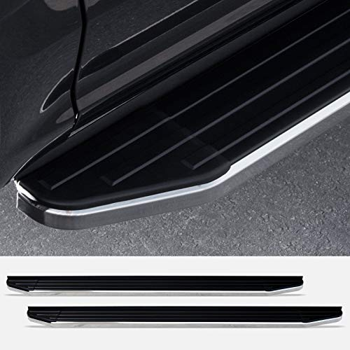 """Stehlen 714937190962 6"""" VP Series Aluminum Running Boards - Black With Chrome Trim For 2011-2019 Jeep Grand Cherokee WK2"""