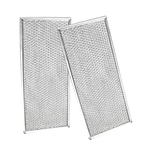 "APPLIANCEMATES W10208631A Microwave Aluminum Mesh Grease Filter Traps Grease from The Exhaust Air Compatible with Maytag Whirlpool, 2 Packs Approx 13"" x 5.8"""