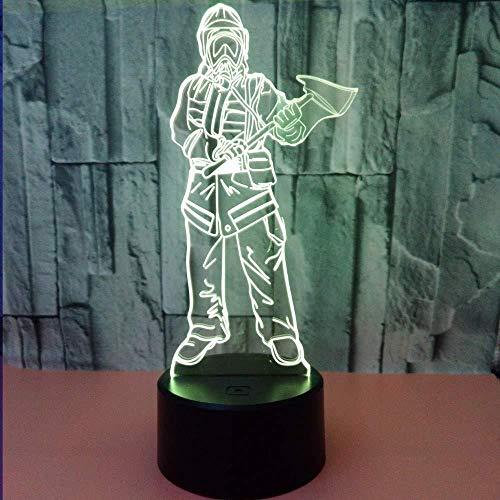 3D nachtlampje LED bedlampje USB verlichting illusie lamp acryl vuurtafel touch tafel woonkamer decoratie met kleurrijk kleurverloop kerstgeschenken
