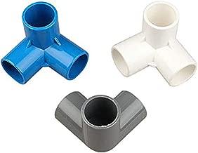 LAQI Cruz Blanca Schedule 40 20mm Socket tee Corner Fittings PVC Pipe Fitting 4 Way