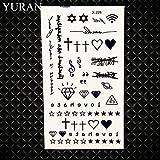 HXMAN 7 Unids Pequeño Negro Ancla Pirata Pirata Falso Tatuaje Sin Hijos Dedo Temporal Tatuaje Pegatinas Mujeres Cuerpo Brazo Arte Tattos Niños Brújula GX228