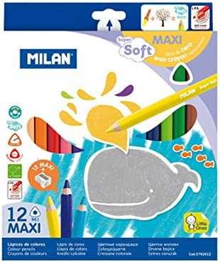 Milan Super Max 48% OFF Soft Wax Coloured of Sales results No. 1 12 Pencil Pack