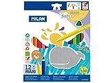 Milan 0792612 - Pack de 12 lápices de colores