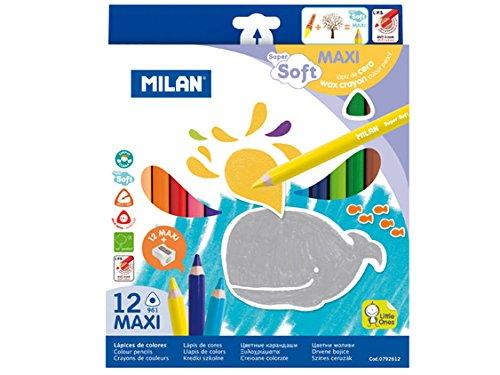 Milan M0792612 Gommes à Effacer, Blanc, Petite