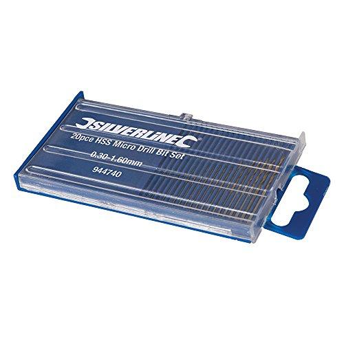 Silverline Tools 944740 HSS Micro Drill Bit Set 20pce, Silver