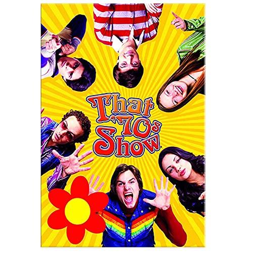 HZLYCH That 70S Show Classic TV Series Canvas Painting Prints Wall Art Poster Vintage Poster Decoración para el hogar -50X70 CM Sin Marco
