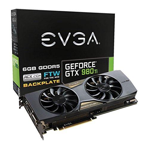 EVGA GTX 980 Ti FTW GAMING ACX 2.0 Plus 06G-P4-4996-KR NVIDIA Grafikkarte (PCI-e, 6GB GDDR5, DP, DVI-I DL, HDMI, GPU)