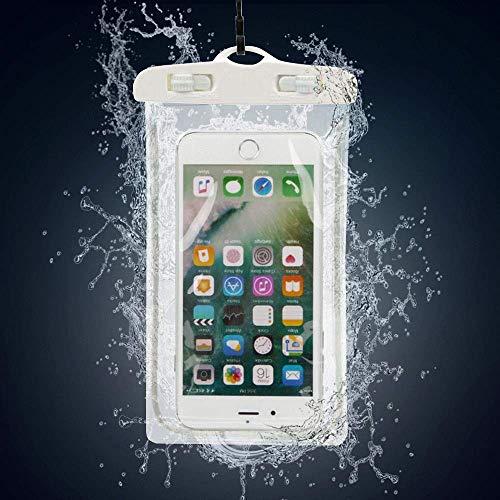 N4U Online Wasserdicht Unterwasser Gehäusedeckel Tasche Trocken Beutel für Homtom HT7 Pro - Weiß