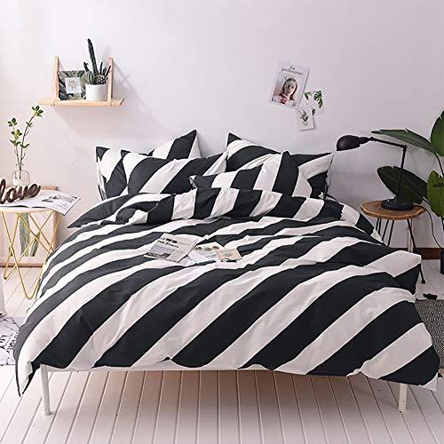 ZHANGXJ Moda Juego De Funda NóRdica De 4 Camas Sencillas De Piel Suave De AlgodóN, 200 * 230 cm para la decoración del Dormitorio (Color : B)