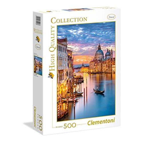 Clementoni - 35056 - High Quality Collection Puzzle - Lighting Venice - 500 Pezzi