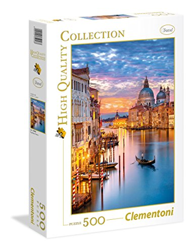 Clementoni-CM-35056 Puzzle 500 Piezas Venecia iluminada, Color (35056)