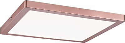 Plafonnier LED Atria - Carré - 20W - Or rose - Dimmable