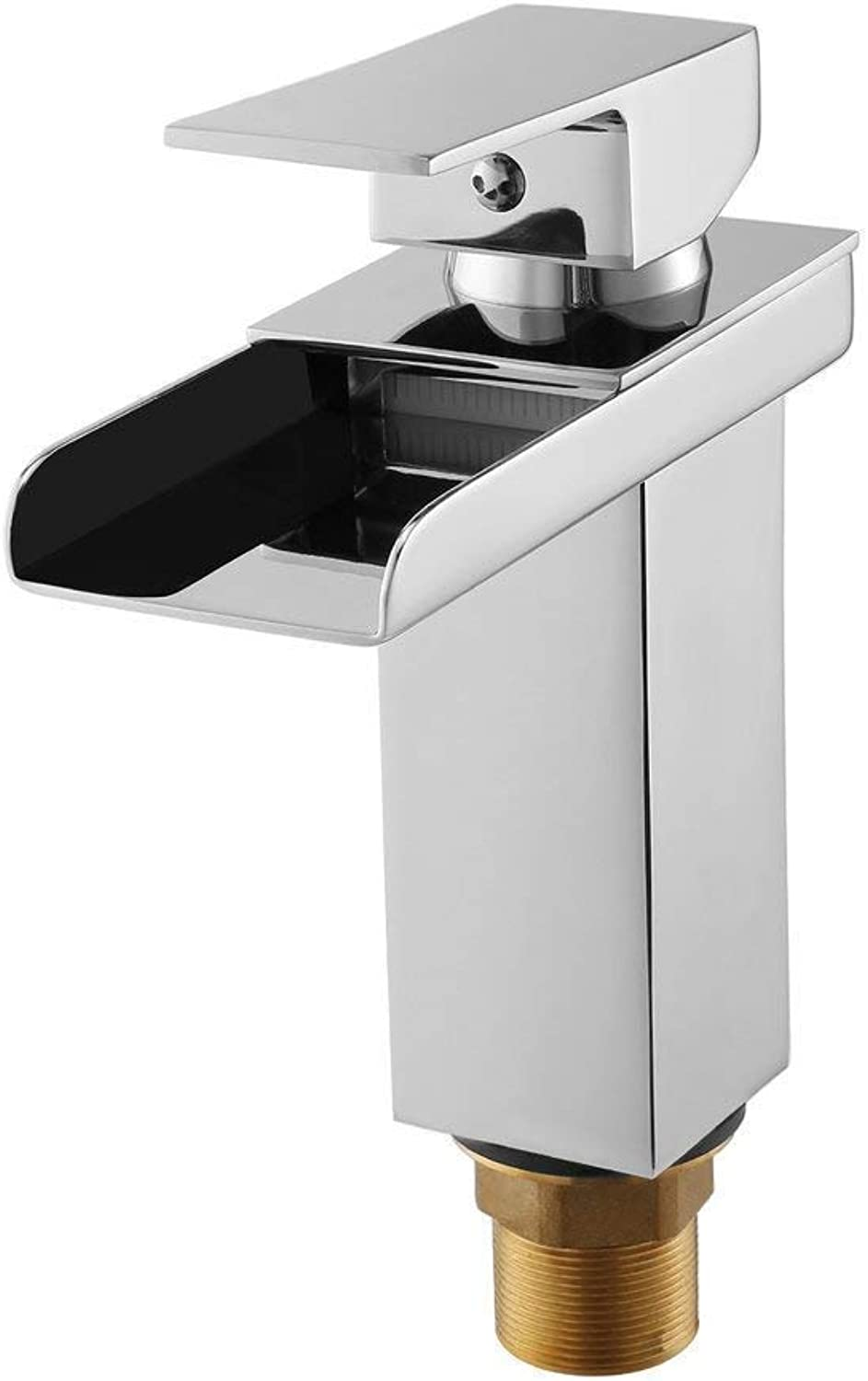 MARCU HOME Taps Faucet Basin Sink Mixer Taps,Waterfall Faucet, Bathroom Lever Single Handle Chrome Leadless Brass Faucet