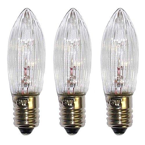 eltric 3W 34V E10 Geeignet für die Verwendung innen 1Lampen Transparent - Beleuchtungsdekoration (1 Lampen, E10, klar, 3 W, Transparent)