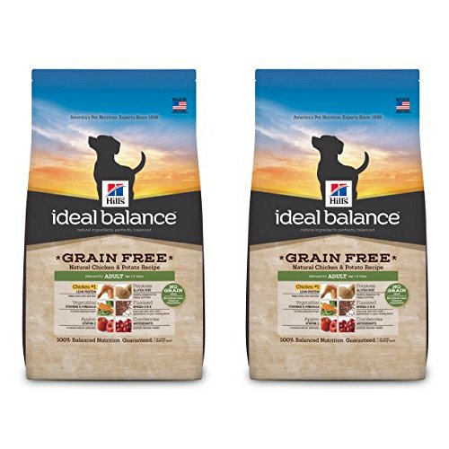 Hill's Ideal Balance Adult Grain Free Natural Chicken & Potato Recipe Dry Dog Food, 21 lb bag - 2...
