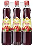 YO Sirup Erdbeere (6 x 700 ml) – 1x Flasche ergibt bis zu 5 Liter Fertiggetränk – ohne Süßungsmittel, Farb- & Konservierungsstoffe, vegan