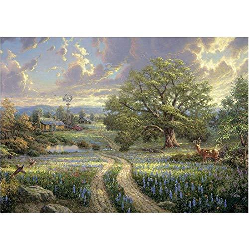 5D knutselen diamant schilderij lente landschap vierkant rond boormachine mozaïek borduurwerk verkoop strass huis muur decoratie 40x50cm