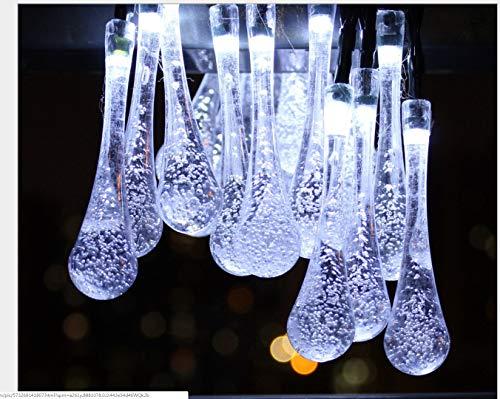 Solar 20 Licht Tropfen Form Im Freien Wasserdichte Dekoration Festival Hochzeit Landschaft Garten Laterne
