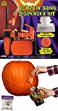 Potomac Banks Pumpkin Drink Dispenser Kit with Free Spider Web