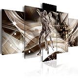 murando Cuadro Acústico Abstracto Figuras 225x112 cm XXL Impresión Artística 5 Piezas Lienzo de Teji...