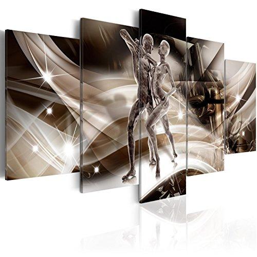 murando - Bilder 200x100 cm Vlies Leinwandbild 5 TLG Kunstdruck modern Wandbilder XXL Wanddekoration Design Wand Bild - Abstrakt Figuren Tanzen h-C-0030-b-m