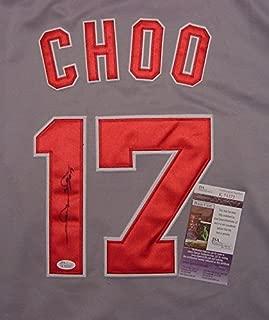 Shin Soo Choo Cincinnati Reds Autographed Grey #17 Jersey JSA COA