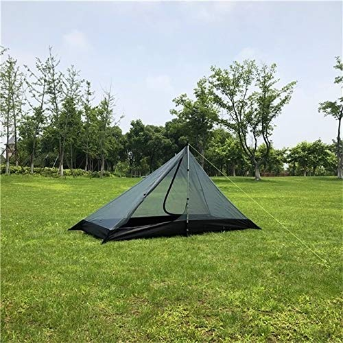 Mdsfe Single Person Ultralight Rodless Pyramid Tent Outdoor Camping Teepee Waterproof 4 Season Camping Hiking Hunting Backpacking Tent-Inner Tent Only,A2