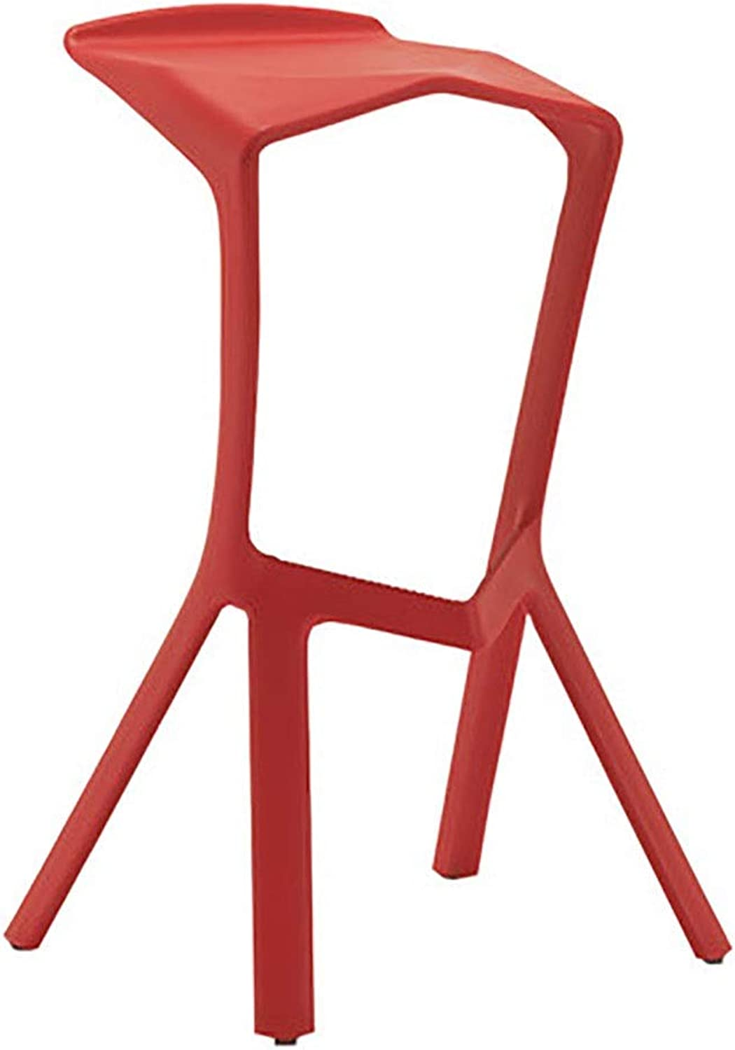 Modern Minimalist Casual Fashion Creative Bar Chair Bar Stool Bar Stool High Chair Front Stool Height Stool Size  50 × 45 × 76cm (color   Red)