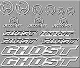 Ecoshirt UU-6Y41-02WS Aufkleber Ghost Bici R207 Aufkleber Sticker Decals Aufkleber, Weiß