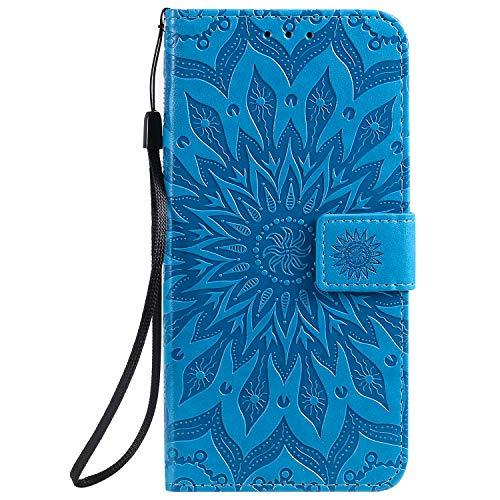 Jeewi Hülle für Vivo V11/V11 Pro/V11i/Y97 Hülle Handyhülle [Standfunktion] [Kartenfach] [Magnetverschluss] Tasche Etui Schutzhülle lederhülle flip case für Vivo V11 Pro - JEKT032685 Blau