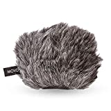 Movo WS-G9 Furry Outdoor Microphone Windscreen Muff for Portable Digital Recorders up to 3' X 1.5' (W x D) - Fits the Zoom H4n, H4n PRO, H5, H6, Tascam DR-40, DR-05, DR-07 and More (Dark Gray)