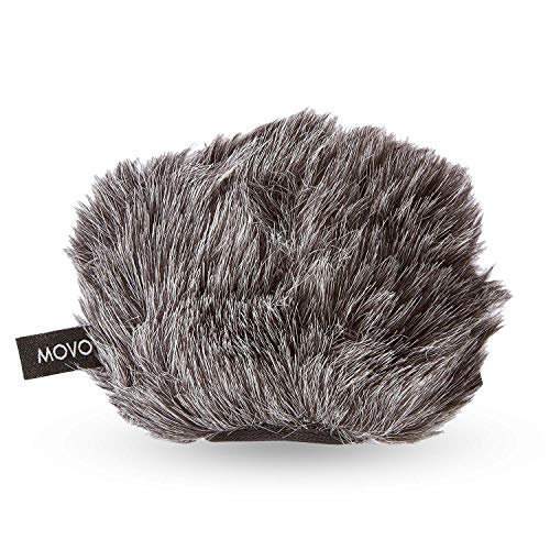Movo WS-G9 Furry Outdoor Microphone Windscreen Muff for Portable Digital Recorders up to 3 X 1.5 (W x D) - Fits the Zoom H4n, H4n PRO, H5, H6, Tascam DR-40, DR-05, DR-07 and More (Dark Gray)