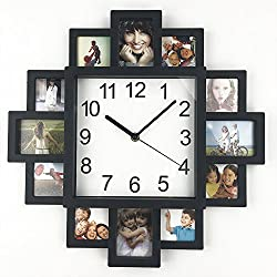 Timelike DIY Frame Clock, DIY Wall Clock Modern Design DIY Photo Frame Clock Plastic Art Pictures Clock Unique Klok Home Decor - Make Your Own Multi-Photo Clock