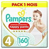 Couches Culottes Pampers Taille 4 (9-15 kg) -  Premium Protection Nappy Pants, 160...