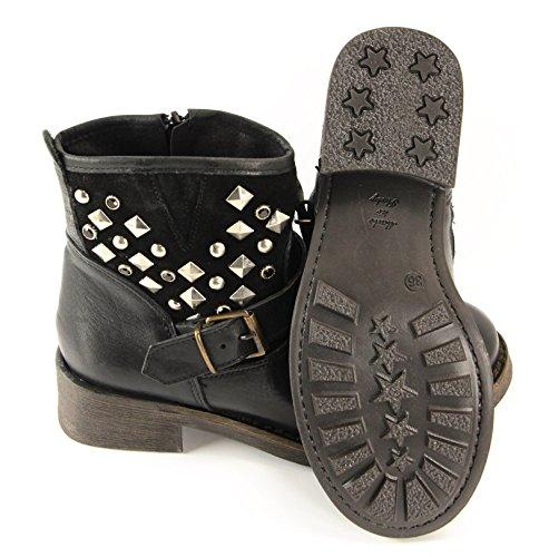Ovye by Cristina Lucchi Echtleder Stiefel Stiefeletten Schuhe Ankle Boots Biker Cowboy Nieten Hand Made in Italy Gr.36