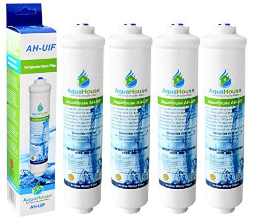 4x AquaHouse UIFD Compatible Filtre Réfrigérateur pour Daewoo DD-7098, 3019974100, 497818 Filtre à eau externe