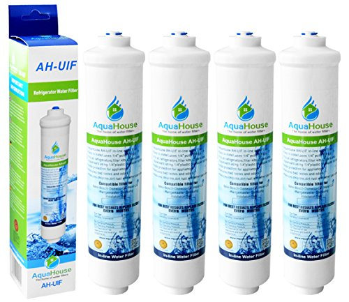 4x AquaHouse AH-UIF Compatibile universale Frigorifero Filtro acqua per Samsung LG Daewoo Rangemaster Beko Haier etc