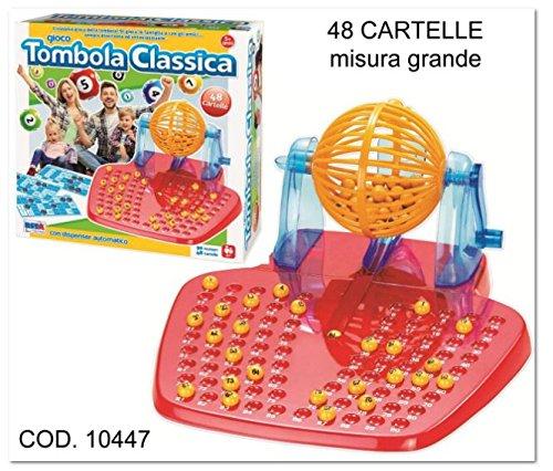 RsToys RS Toys 10447-Gioco Tombola 48 Cartelle con Bussolotto Estrai Numeri, 10447