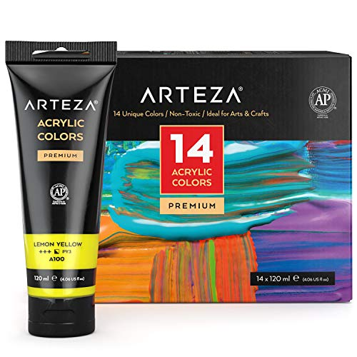 Our #1 Pick is the Arteza Metallic Acrylic Paint Set