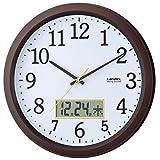 ランデックス(Landex) 掛け時計 アナログ 連続秒針 32.5cm ディアタイム ダークブラウン YW9142DBR
