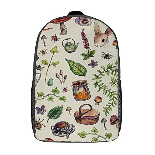 Cottagecore Light Green Backpack Bookbag College Durable Adjustable Sackpack Stylish College School Book Bag With Both Side Pocket