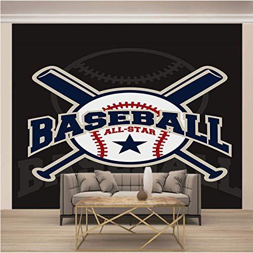 JKM Wallpaper 3D Selbstklebender Wandtapete Vliesstoff Wandgemälde Mehrfachgröße Einfachheit Sport Baseball Tapeten Wandbild Hintergrundbild Fototapete Wandbild, Motivtapeten, Vlies-Tapeten Abstrakt V