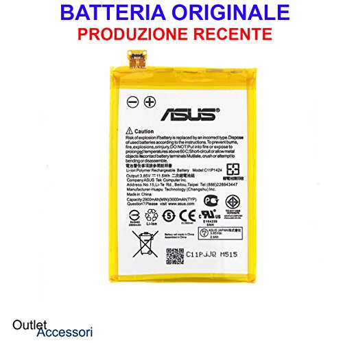 Batteria Pila Interna Originale ASUS ZENFONE 2 C11P1424 Z00AD Z008D ZE551ML ZE550ML ORIGINALE Akku Ricambio Interno
