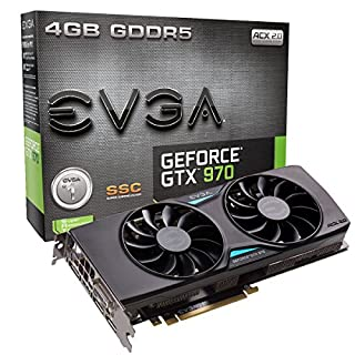 EVGA GeForce GTX 970 4GB SSC Gaming ACX 2.0+, Whisper Silent Cooling Graphics Card 04G-P4-3975-KR (B00R3NK2LE) | Amazon price tracker / tracking, Amazon price history charts, Amazon price watches, Amazon price drop alerts