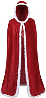 TWGONE Hooded Cloak for Women Costume Unisex Plus Size Christmas Coat Mens Fashion Tops Outwear